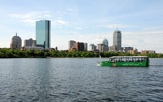 Boston Duck Tour on the Charles River.
